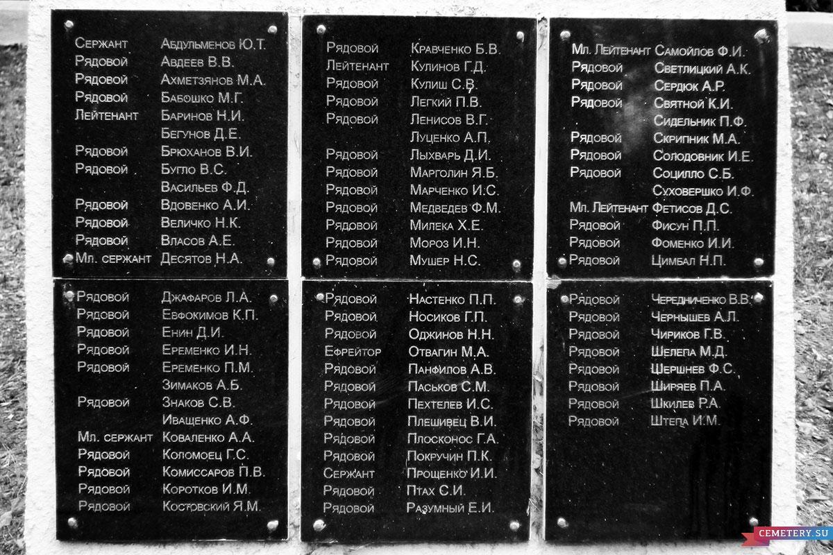 Старое кладбище Таганрога. Мемориал с вечным огнем на братском захоронении ВОВ (1941-1945)