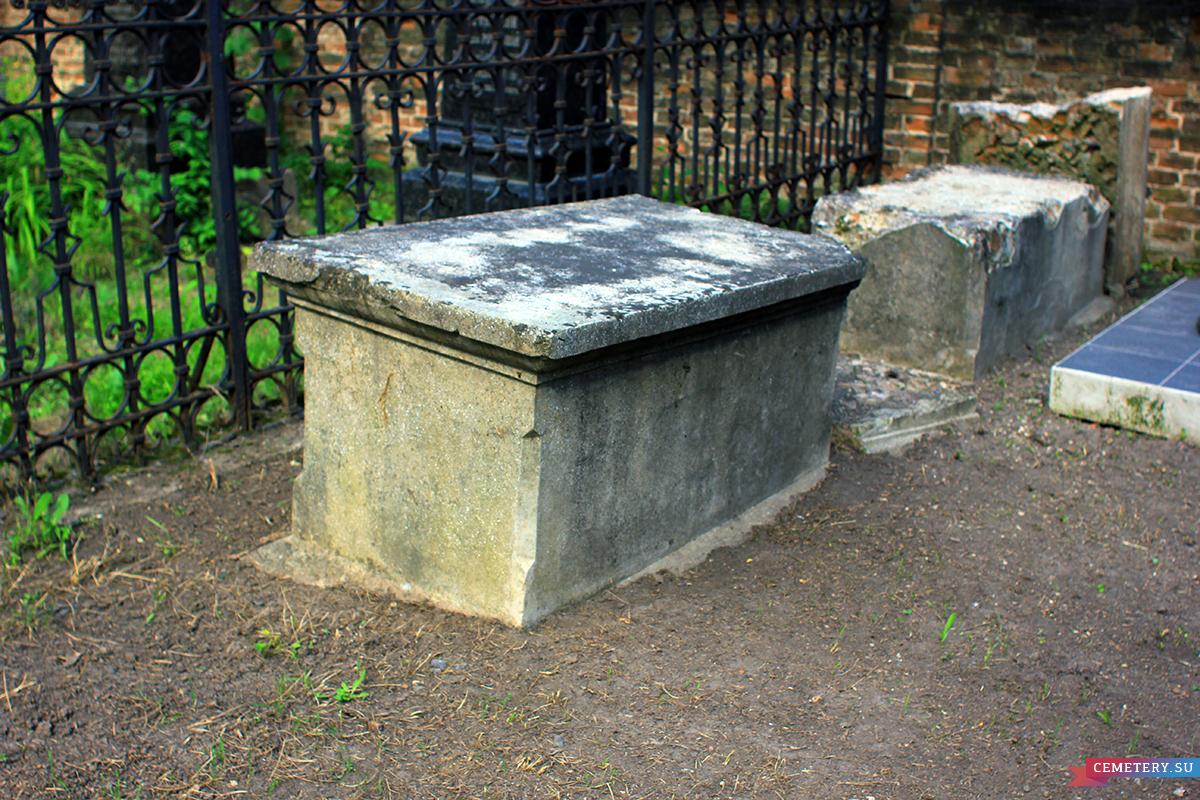 Старое кладбище Таганрога. Саркофаг без о/з справа от участка Рогачевых