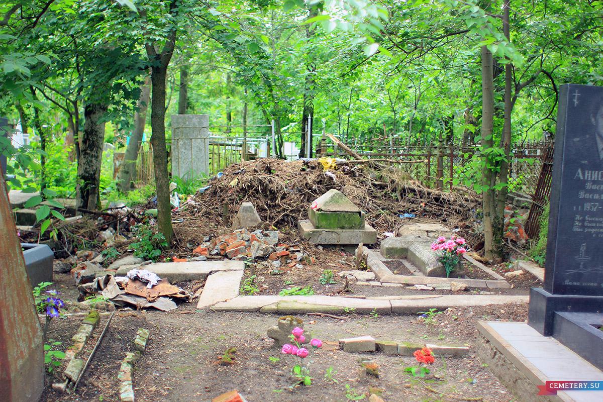 Старое кладбище Таганрога. Английский участок у входа в церковь