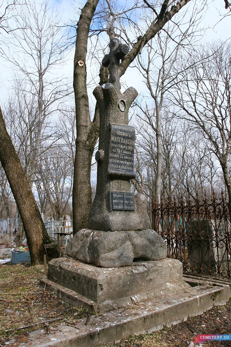 Старое кладбище Таганрога. Протоиерей И. Малеванский