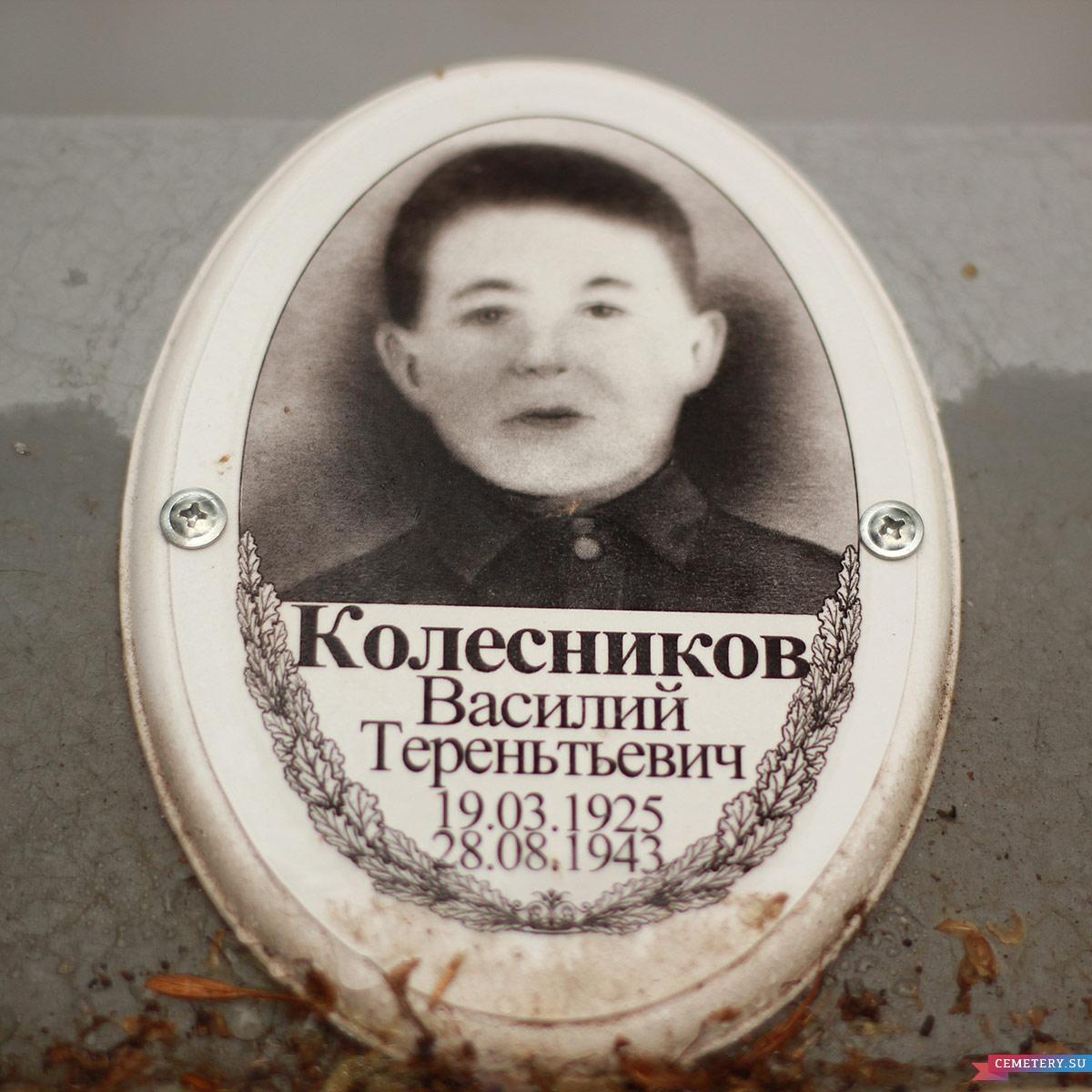 Старое кладбище Таганрога: Колесников Василий Терентьевич