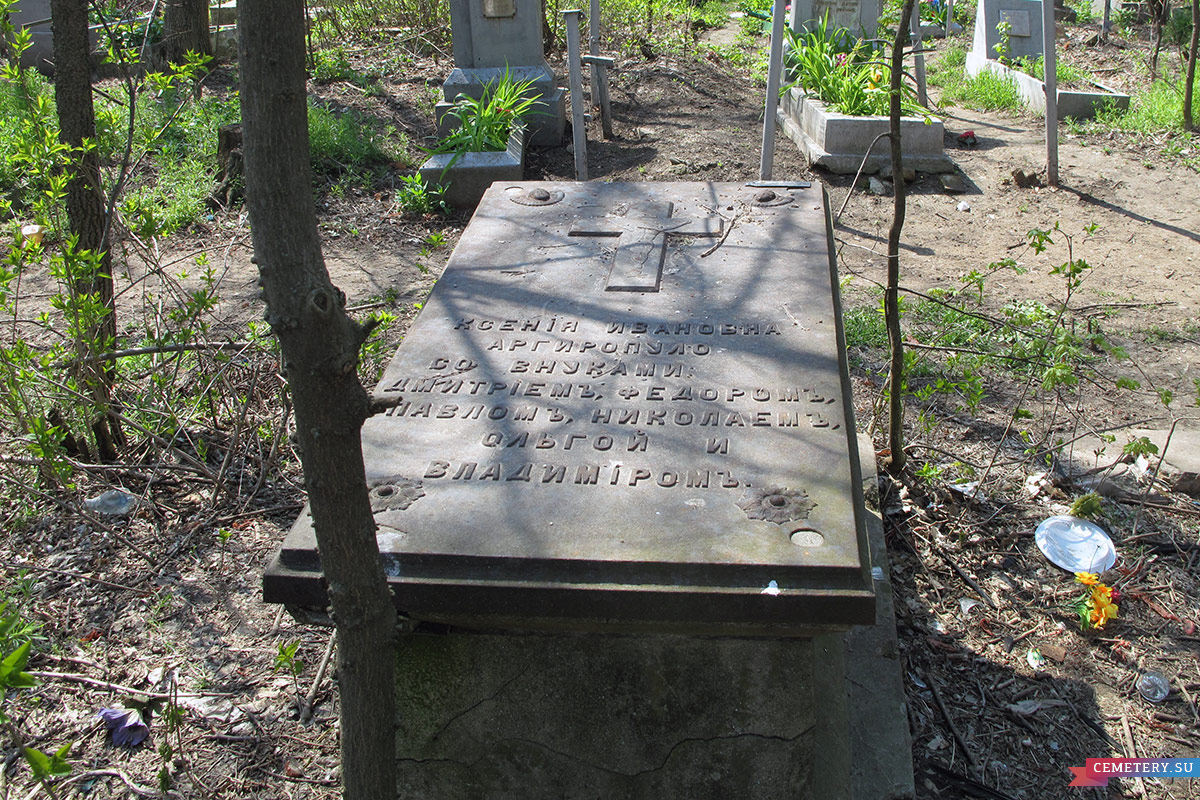 Старое кладбище Таганрога. Фамильный участок Аргиропуло