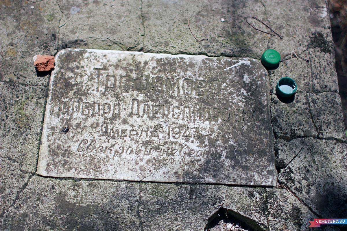Старое кладбище Таганрога. В. А. Трофимова