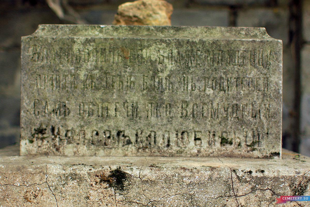 Старое кладбище Таганрога. Жолткевич Н. Ф.