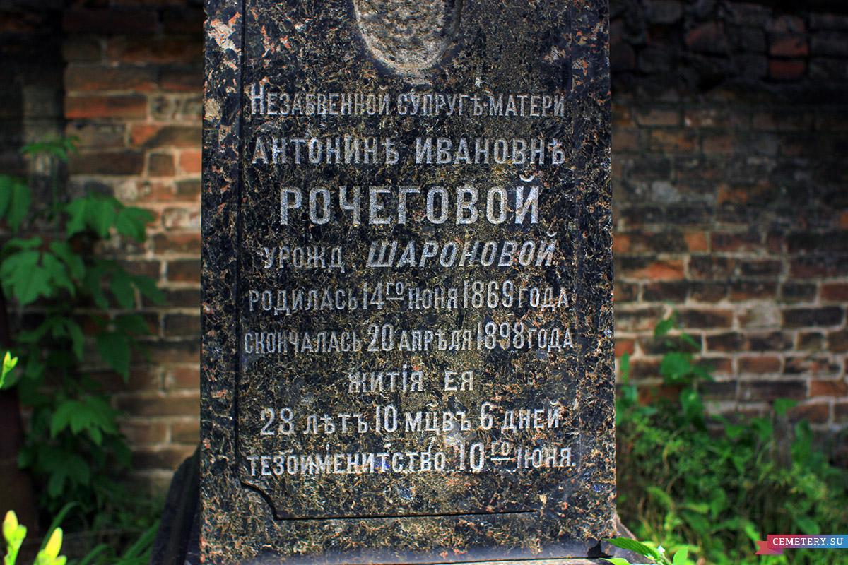 Старое кладбище Таганрога. А. И. Рочегова