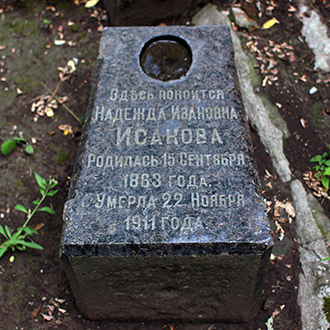 Старое кладбище Таганрога. Н. И. Исакова