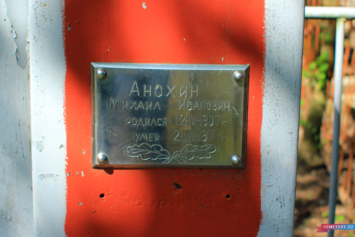 Старое кладбище Таганрога. Анохин М. И.
