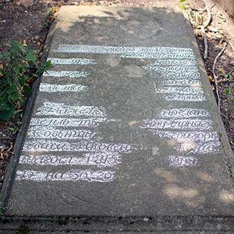 Старое кладбище Таганрога. Плита 1815 года