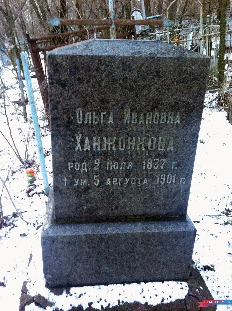 Старое кладбище Таганрога. О. И. Ханжонкова