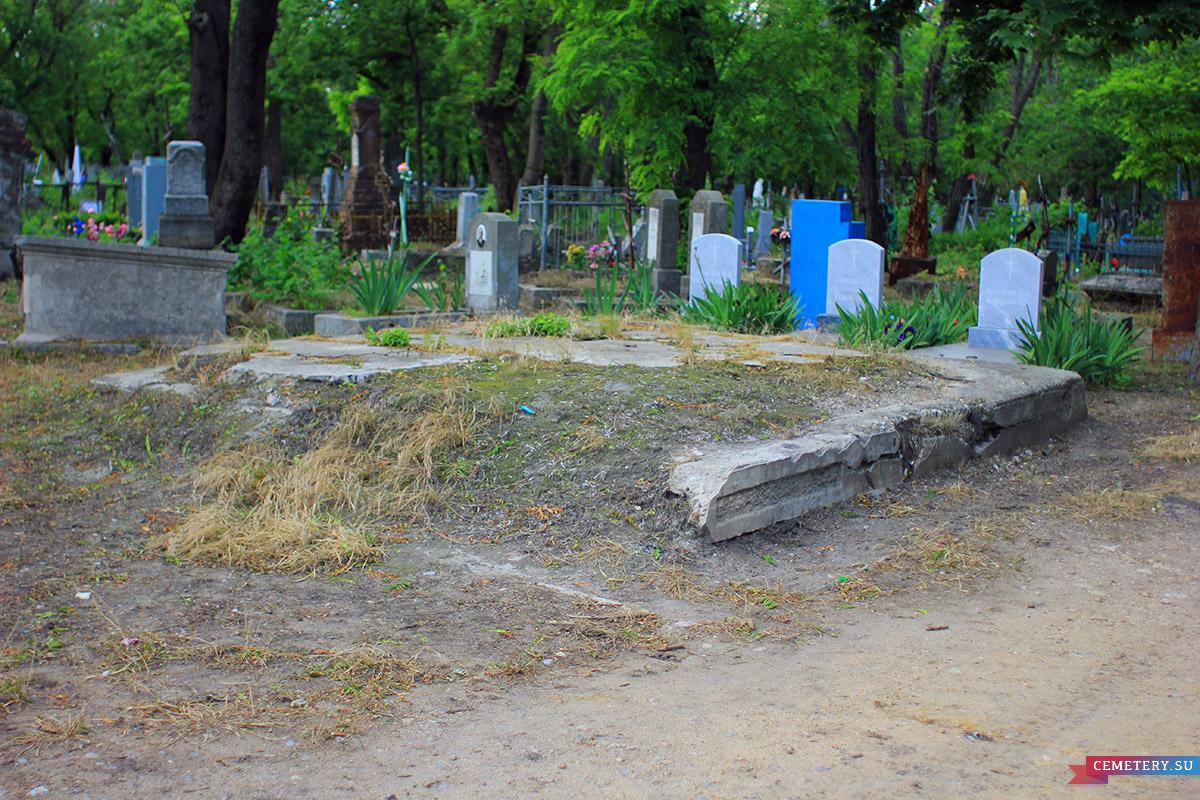 Старое кладбище Таганрога. Фамильный склеп на развилке у центрального входа