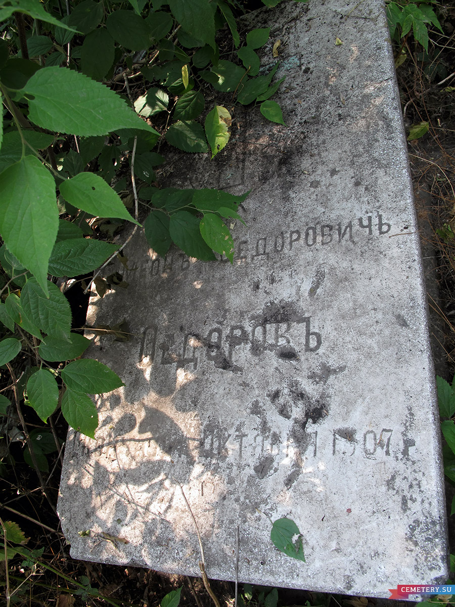 Старое кладбище Таганрога. Федоров С. Ф.