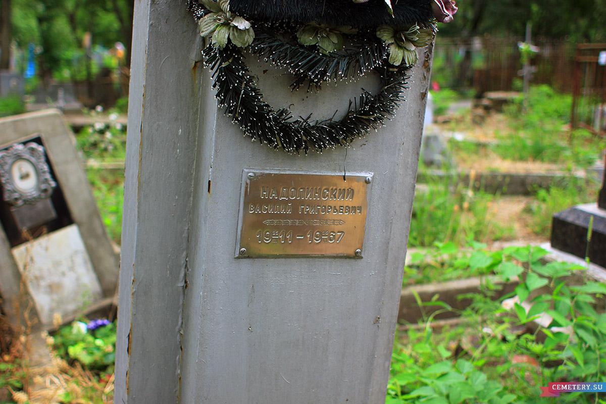 Старое кладбище Таганрога. В. Г. Надолинский