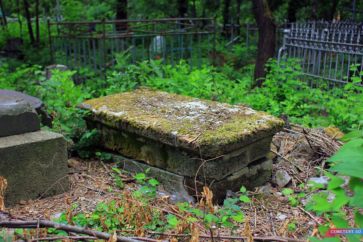Старое кладбище Таганрога. Неизвестный рядом со священником А. Однораловым