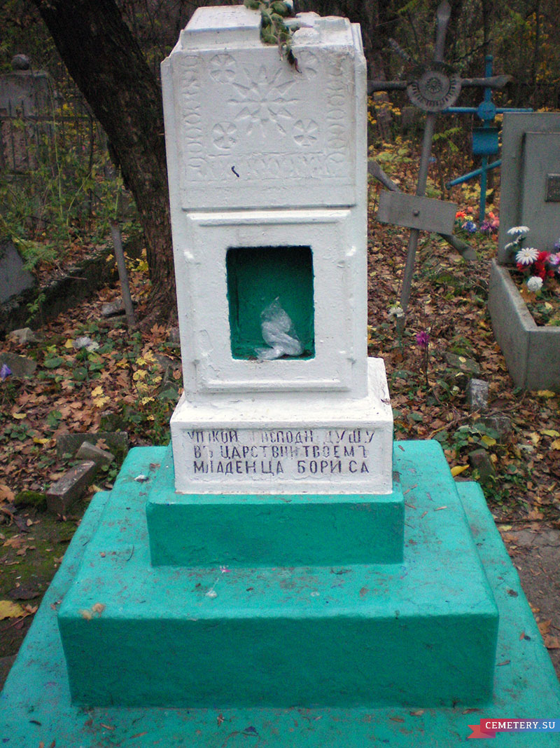 Старое кладбище Таганрога. Младенец Борис Парфацкий