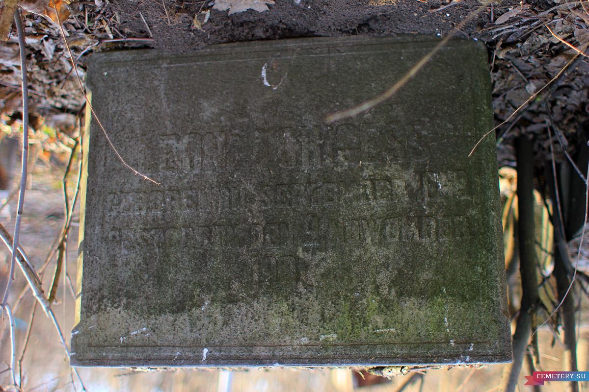 Старое кладбище Таганрога. Леон Чижес