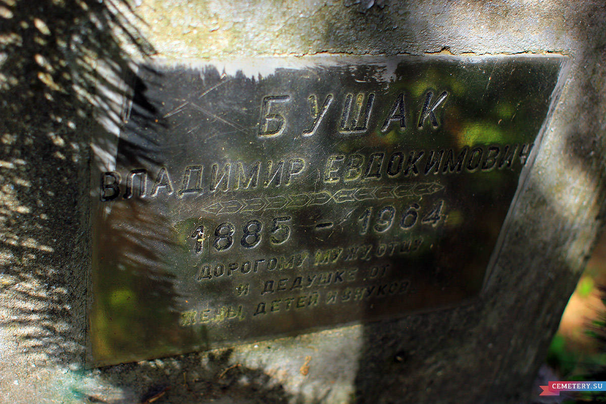 Старое кладбище Таганрога. Бушак В. Е.