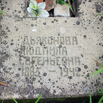 Старое кладбище Таганрога. Л. Е. Дьяконова